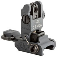 LOW PROFILE FLIP UP REAR SIGHT W/ SAME PLANE APERTURE